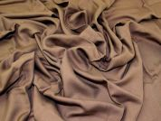Soft Plain Woven Viscose Twill Dress Fabric  Tobacco Brown
