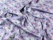 Floral Print Stretch Suiting Dress Fabric  Lilac