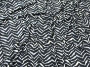 Abstract Print Stretch Jersey Knit Dress Fabric  Navy Blue
