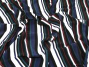 Stripe Print Woven Viscose Dress Fabric  Multicoloured