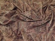Paisley Print Woven Viscose Dress Fabric  Brown