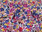 Floral Print Stretch Crepe Dress Fabric  Multicoloured