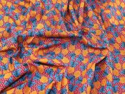 Pineapples Print Cotton Dress Fabric  Multicoloured