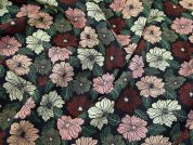 Textured Floral Stretch Brocade Dress Fabric  Multicoloured
