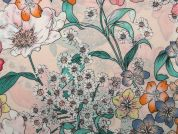 Floral Print Viscose Challis Dress Fabric  Multicoloured