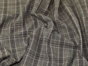 Check Stretch Suiting Fabric  Brown