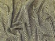 Check Stretch Suiting Fabric  Antique Gold