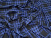 Twill Check Fabric  Royal Blue