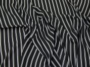 Stripe Georgette Fabric  Black & White