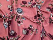 Viscose Challis Fabric  Rose Pink