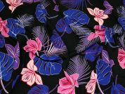 Polyester Crepe Fabric  Blue & Purple