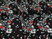 Viscose Crepe Fabric  Black