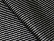 Lurex Stripe Suiting Dress Fabric  Black & Silver