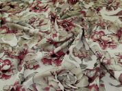 Lyon Linen Viscose Fabric  Berry