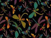 Timeless Treasures Dragonflies Metallic Poplin Quilting Fabric