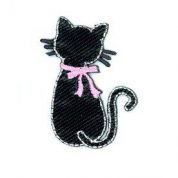 Cat Patch Motif  Black & Pink