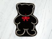 Felt Teddy Bear Motifs  Dark Brown