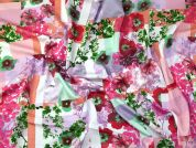 Floral Jersey Knit Fabric  Multicoloured