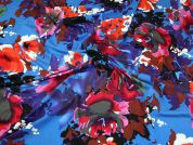 Floral Viscose Stretch Jersey Dress Fabric  Multicoloured