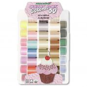 Madeira Cotona No.50 Embroidery Quilting Thread Box  Assorted Colours