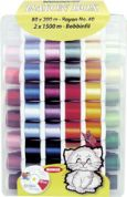 Madeira Machine Embroidery Travel Thread Box  Assorted Colours