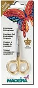 Madeira Gold Plated Double Curved Embroidery Scissors  Gold
