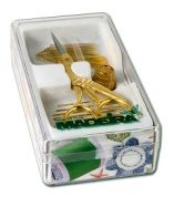 Madeira Gold Quality Box for Accessories for Needleworkers  Gold