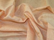 Lady McElroy Stripe Pure Linen Fabric  Orange