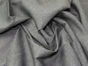 Lady McElroy Cotton Linen Denim Fabric  Grey