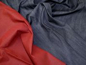 Lady McElroy Reversible Stretch Denim Fabric  Indigo & Red