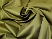 Lady McElroy Stretch Denim Fabric  Olive Green