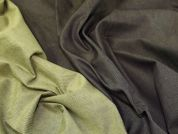 Lady McElroy Reversible Stretch Denim Fabric  Brown & Olive