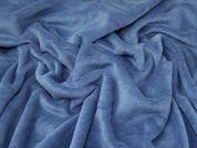 Lady McElroy Plush Fleece Fabric  Mid Blue