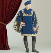 McCalls Cosplay Mens Sewing Pattern 2007 Historical Tunics & Hat