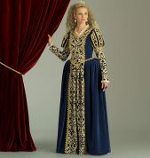 McCalls Cosplay Ladies Sewing Pattern 2023 Historical Floor Length Dress with Puff Sleeves