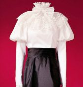 McCalls Cosplay Ladies Sewing Pattern 2024 Historical Puff Sleeve Blouse, Sash & Collar