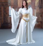 McCalls Cosplay Ladies Sewing Pattern 2028 Costume Gown with Drawstring Sleeves