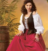 McCalls Cosplay Ladies Sewing Pattern 2055 Historical Peplum Corset, Top & Skirt