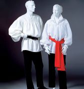 McCalls Cosplay Mens & Ladies Sewing Pattern 2059 Historical Poet Shirt & Sash
