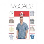McCalls Mens Sewing Pattern 2149 Long & Short Sleeve Shirts