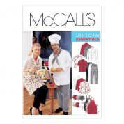 McCalls Ladies & Mens Sewing Pattern 2233 Chef Uniform & Aprons