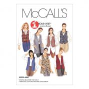 McCalls Ladies Easy Sewing Pattern 2260 Waistcoat Tops