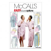 McCalls Ladies Easy Sewing Pattern 2476 Dressing Gown, Nightgown & Pyjamas