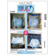 McCalls Homeware Easy Sewing Pattern 3089 2 Hour Valance Classics