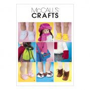 McCalls Crafts Sewing Pattern 3469 Doll Clothes Accessories