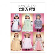 McCalls Crafts Sewing Pattern 3627 Traditional Doll Clothes