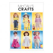 McCalls Crafts Sewing Pattern 4066 Summertime Doll Clothes