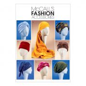 McCalls Ladies Easy Sewing Pattern 4116 Turbans, Head wraps & Caps