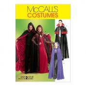 McCalls Ladies, Mens & Teenagers Sewing Pattern 4139 Cape Costumes