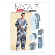 McCalls Mens Easy Sewing Pattern 4244 Dressing Gown & Pyjamas